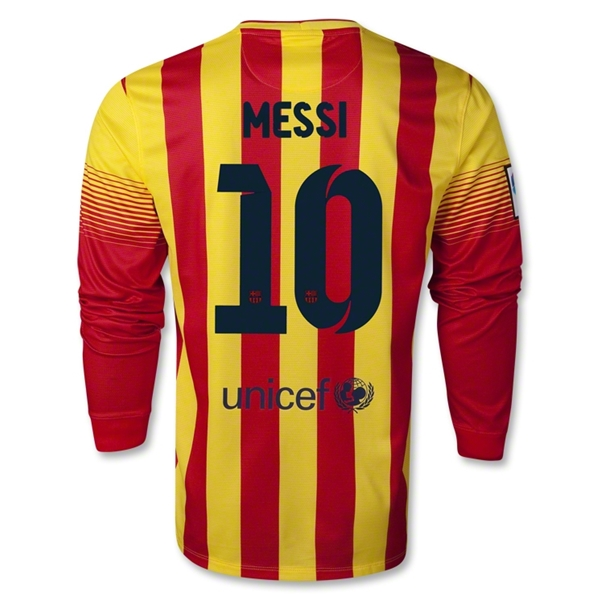 Barcelona 13/14 MESSI LS Away Soccer Jersey