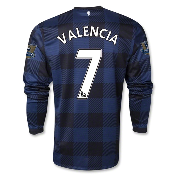 Manchester United 13/14 VALENCIA LS Away Soccer Jersey