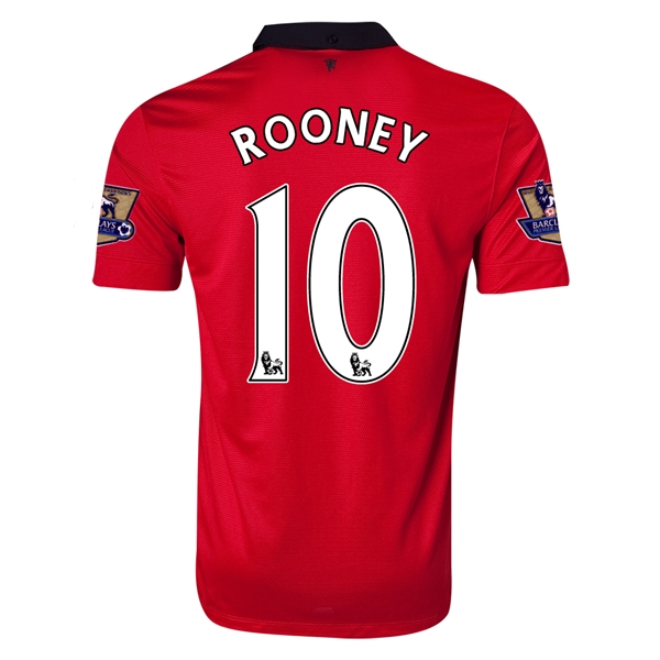 Manchester United 13/14 ROONEY Home Soccer Jersey