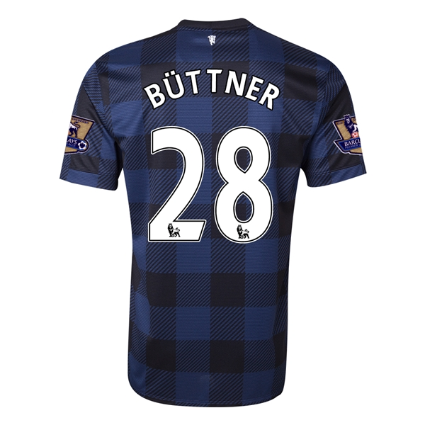 Manchester United 13/14 BUTTNER Away Soccer Jersey