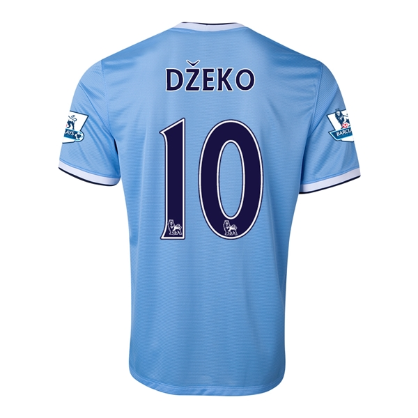Manchester City 13/14 DZEKO Home Soccer Jersey