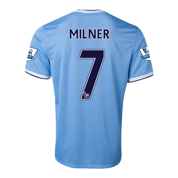 Manchester City 13/14 MILNER Home Soccer Jersey