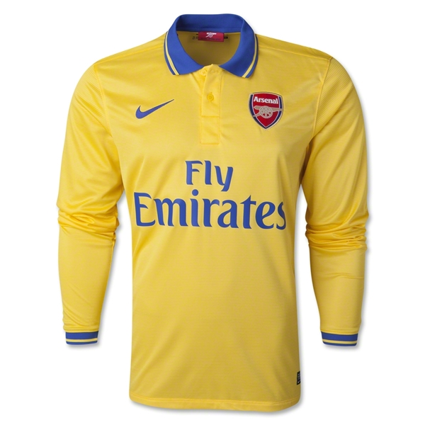 Arsenal 13/14 LS Away Soccer Jersey