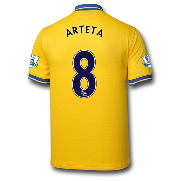 Arsenal 13/14 ARTETA Away Soccer Jersey