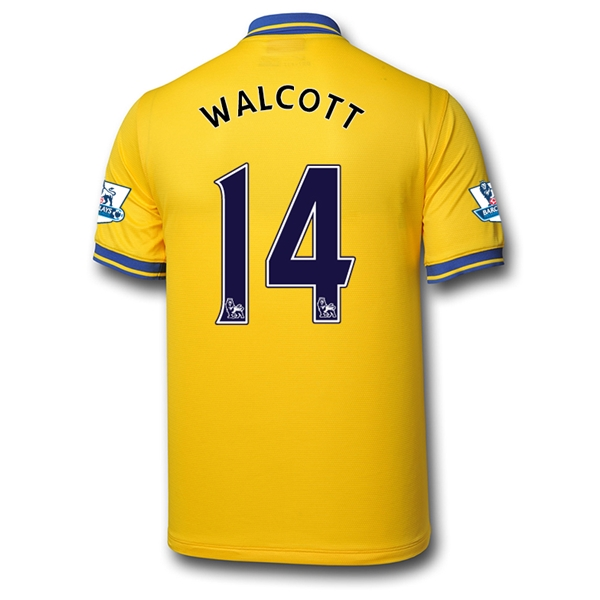 Arsenal 13/14 WALCOTT Away Soccer Jersey