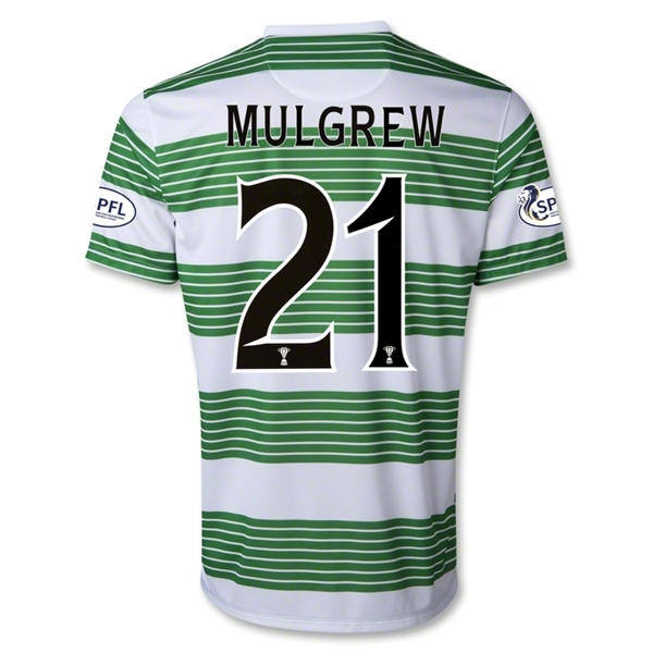 Celtic 13/14 MULGREW Home Soccer Jersey