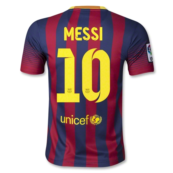 Barcelona 13/14 MESSI Youth Home Soccer Jersey