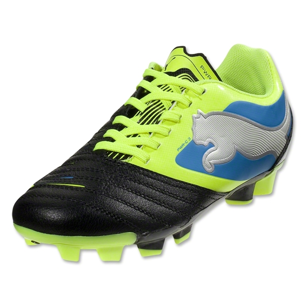 PUMA PowerCat 3.12 FG Junior (Black/Fluo Yellow/White)