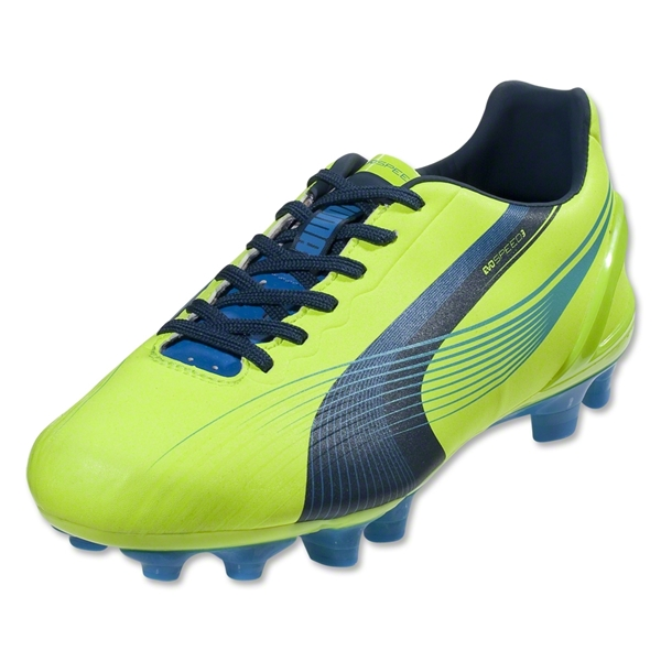 PUMA Women's evoSPEED 3 FG (Fluo Yellow/Brilliant Blue/Poseidon)