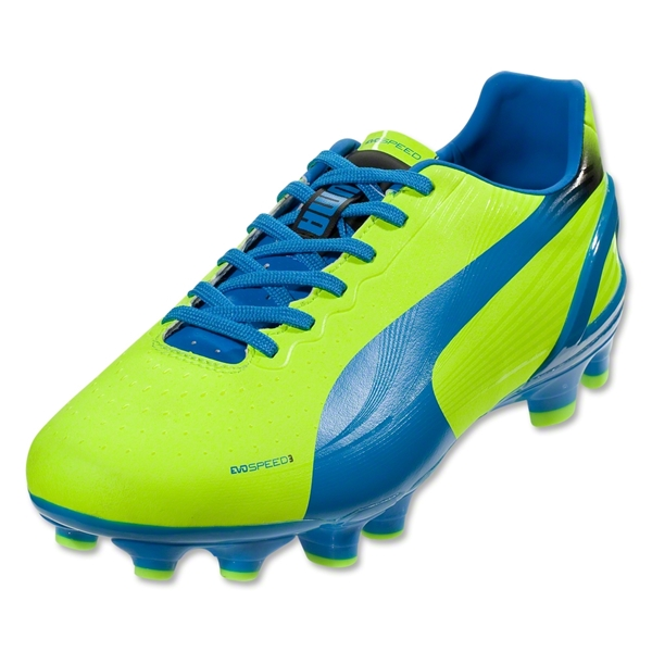 PUMA evoSPEED 3.2 FG (Fluo Yellow/Brilliant Blue/Black)