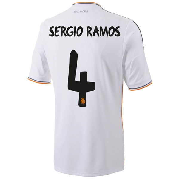 Real Madrid 13/14 SERGIO-RAMOS Home Soccer Jersey