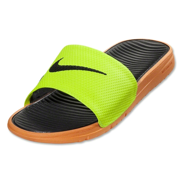 Nike Benassi Solarsoft Slide (Volt/Bright Citrus/Black)