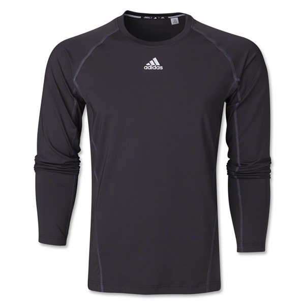 adidas Tech Fitted Long Sleeve Top (Black)