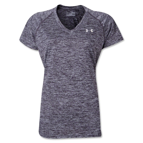 Under Armour Women Twisted Tech T-Shirt (Black/Blue)