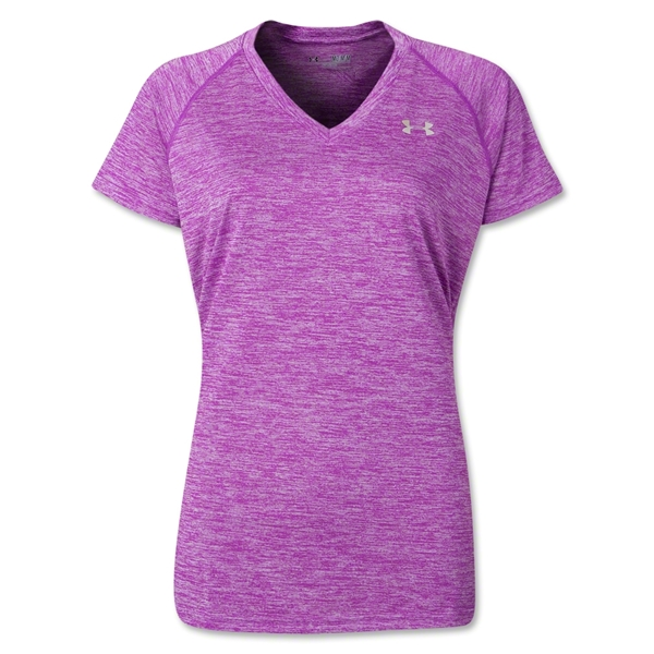 Under Armour Women Twisted Tech T-Shirt (Pu/Pi)