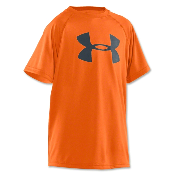 Under Armour Tech Youth Big Logo T-Shirt (Neon Orange)