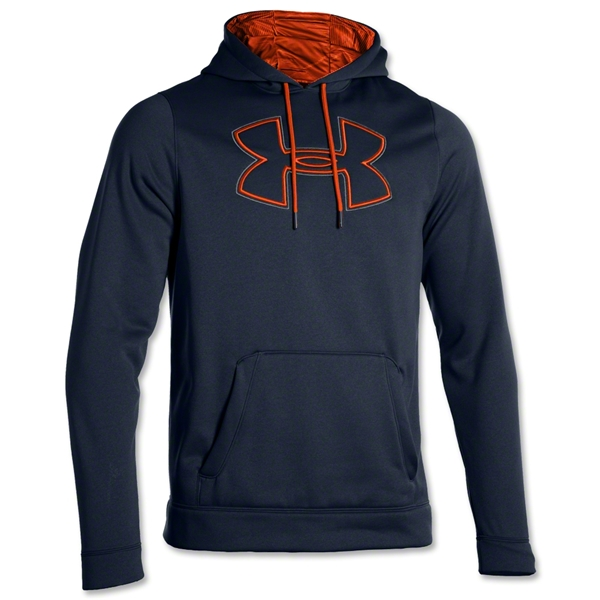 Under Armour Fleece Storm Outline Big Logo Hoody (Blk/Orange)