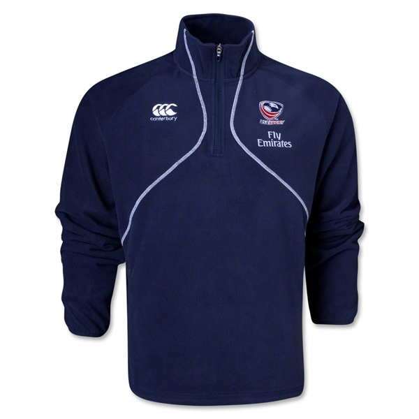 USA Rugby 1/4 Zip Microfleece Top