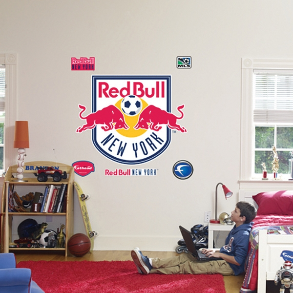Fathead NY Red Bulls Logo Wall Graphic