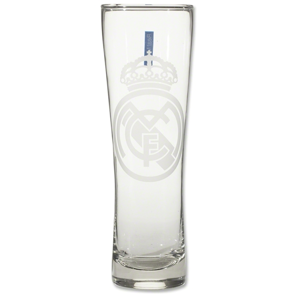 Real Madrid Tall Etched Pint Glass