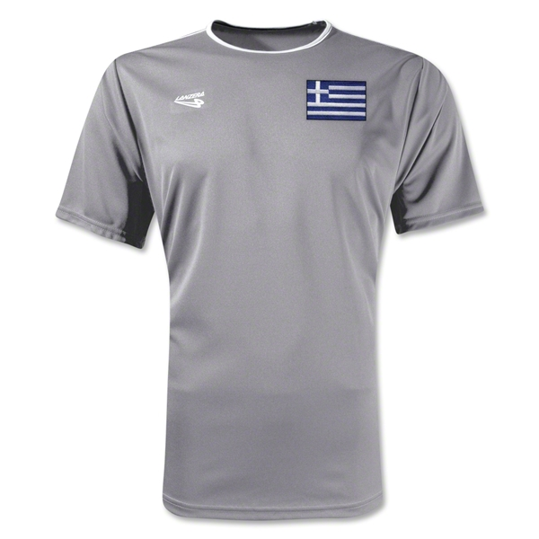 Greece Primera Soccer Jersey (Grey)