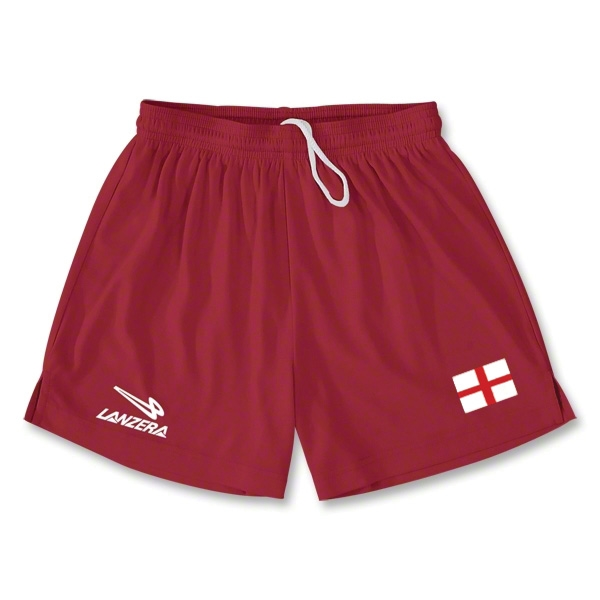 England Primera Soccer Shorts (Red)