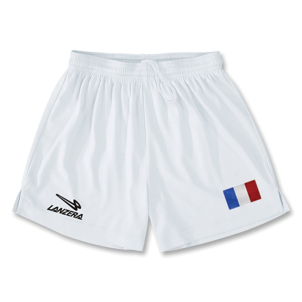 France Primera Soccer Shorts (White)