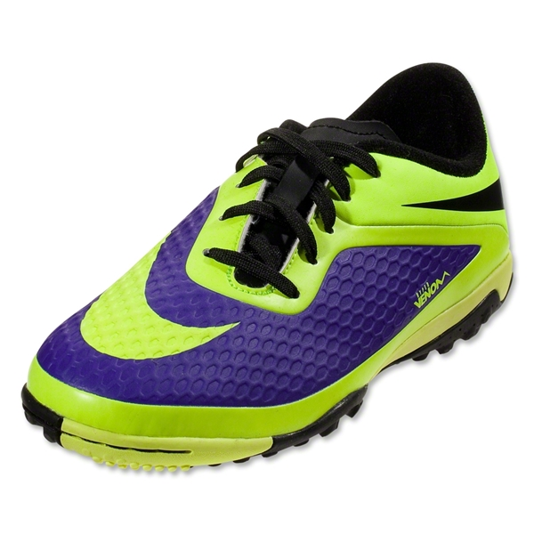 Nike Junior Hypervenom Phelon TF (Electro Purple/Volt/Black)