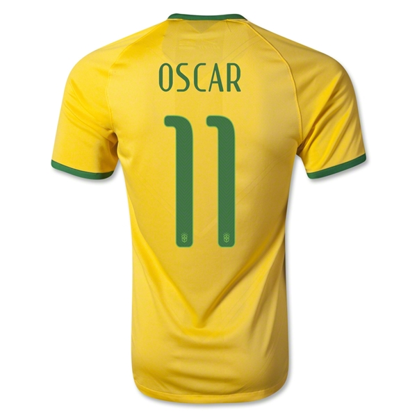 Brazil 2014 OSCAR Authentic Home Soccer Jersey
