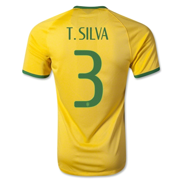 Brazil 2014 T. SILVA Authentic Home Soccer Jersey