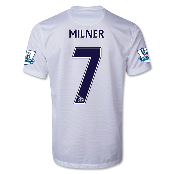 Manchester City 13/14 MILNER Third Soccer Jersey