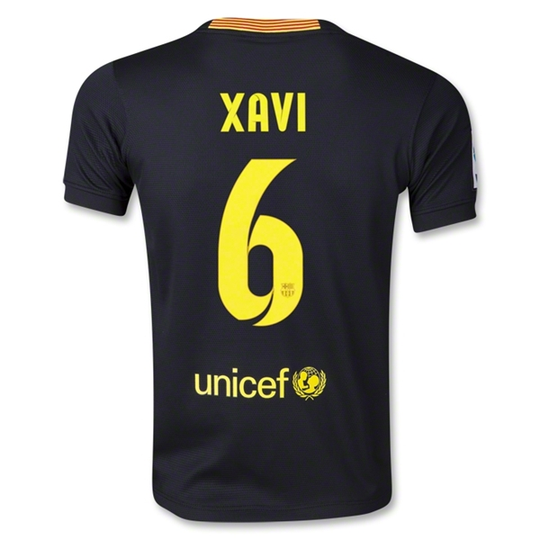Barcelona 13/14 XAVI Youth Third Soccer Jersey