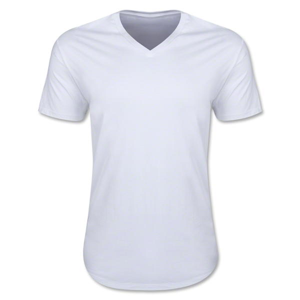 Men's V-Neck Tee (White)