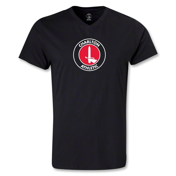 Charlton Athletic V-Neck T-Shirt (Black)