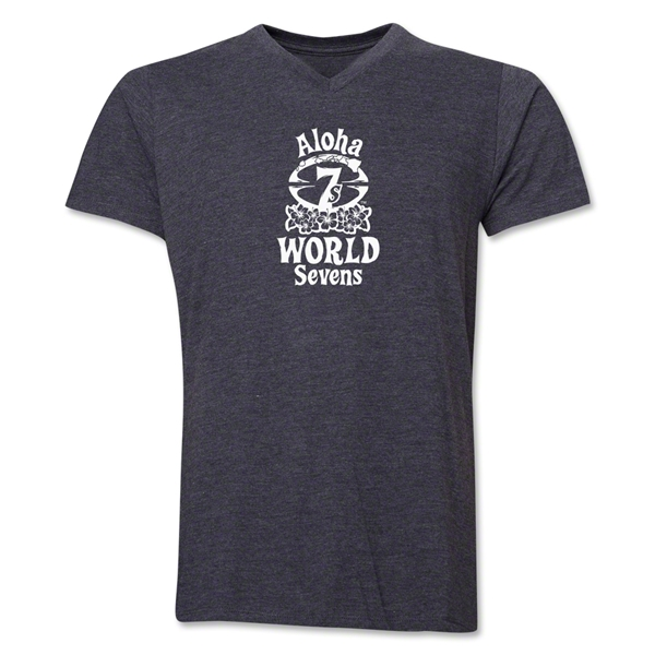 Aloha World Sevens V-Neck T-Shirt (Dark Grey)