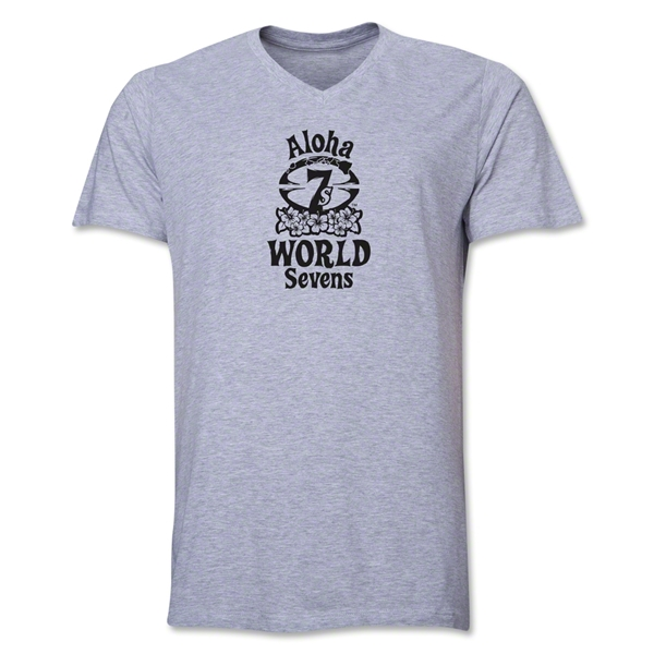 Aloha World Sevens V-Neck T-Shirt (Grey)