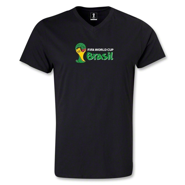 2014 FIFA World Cup Brazil(TM) Landscape Emblem V-Neck T-Shirt (Black)