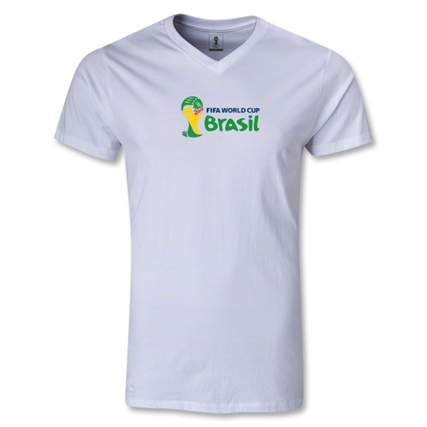 2014 FIFA World Cup Brazil(TM) Landscape Emblem V-Neck T-Shirt (White)