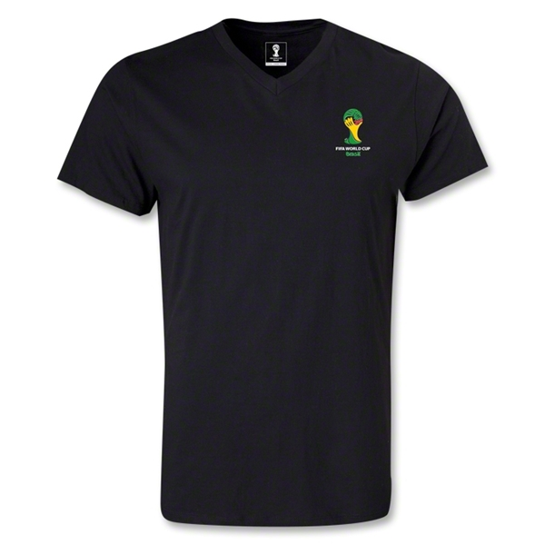 2014 FIFA World Cup Brazil(TM) Event Emblem V-Neck T-Shirt (Black)