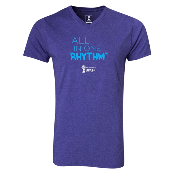 2014 FIFA World Cup Brazil(TM) All In One Rhythm V-Neck T-Shirt (Heather Purple)