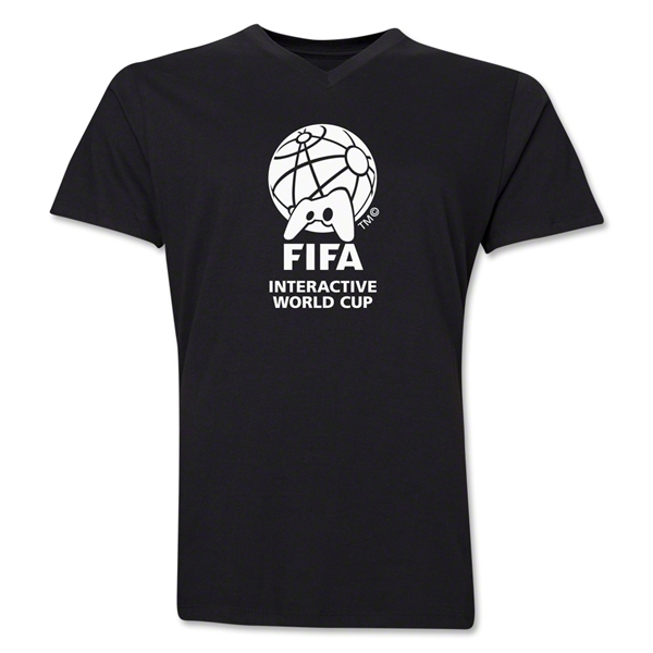 FIFA Interactive World Cup Core Emblem V-Neck T-Shirt (Black)