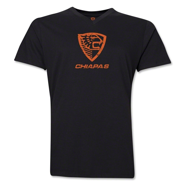 Jaguares Distressed Men's V-Neck T-Shirt (Black)