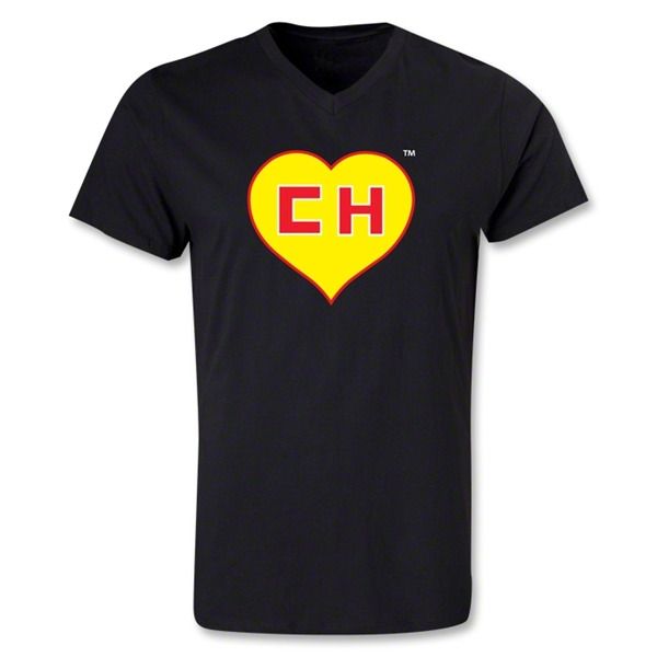 Chapulin V-Neck T-Shirt (Black)