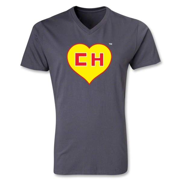 Chapulin V-Neck T-Shirt (Dark Gray)