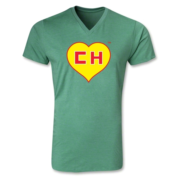 Chapulin V-Neck T-Shirt (Heather Green)