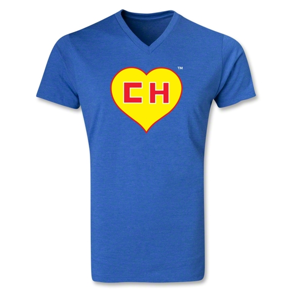 Chapulin V-Neck T-Shirt (Heather Royal)