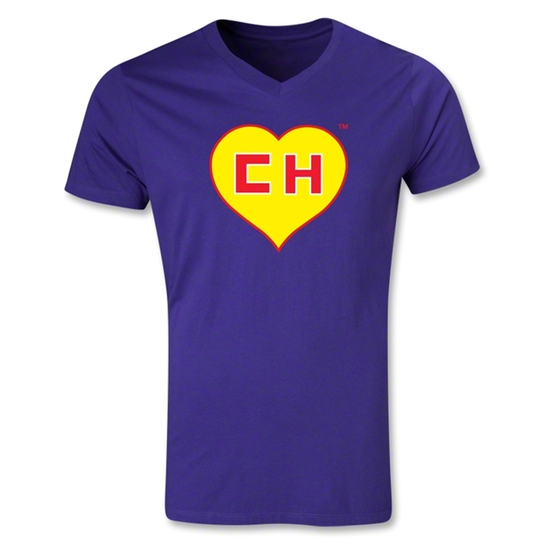 Chapulin V-Neck T-Shirt (Purple)