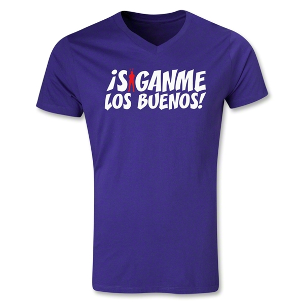 Chapulin Los Buenos V-Neck T-Shirt (Purple)