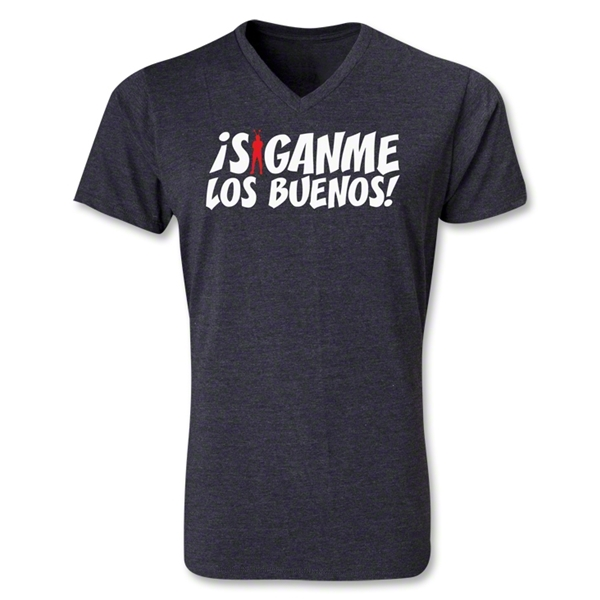Chapulin Los Buenos V-Neck T-Shirt (Heather Gray)