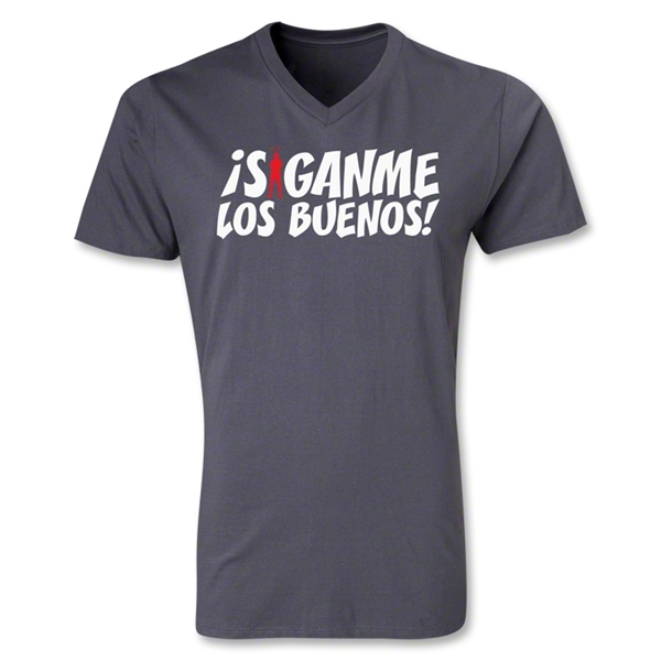 Chapulin Los Buenos V-Neck T-Shirt (Dark Gray)